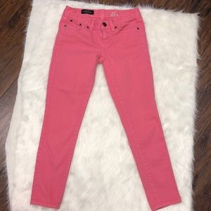 J.crew pink toothpick ankle